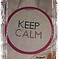Mini sal : keep calm and cross stitch obj 1 et 2