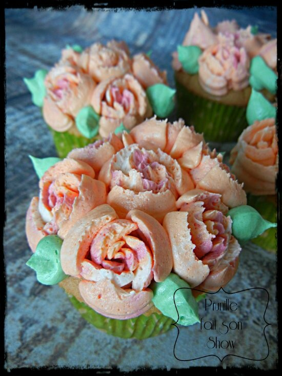 cupcakes roses fruit passion prunillefee