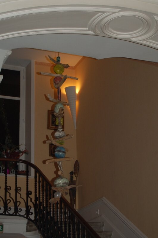 L'escalier avec en premier plan une
