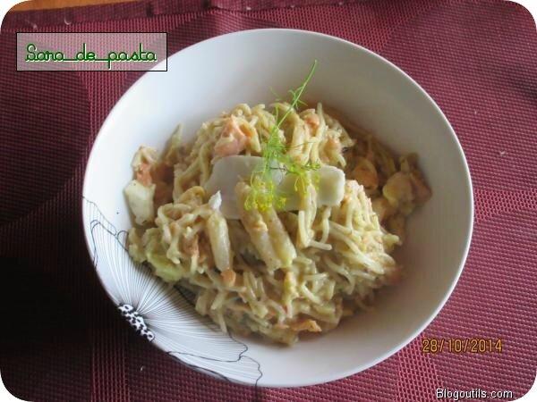 Un bon plat de pasta pour Sara se remonter le moral,sinon part hiberner..............