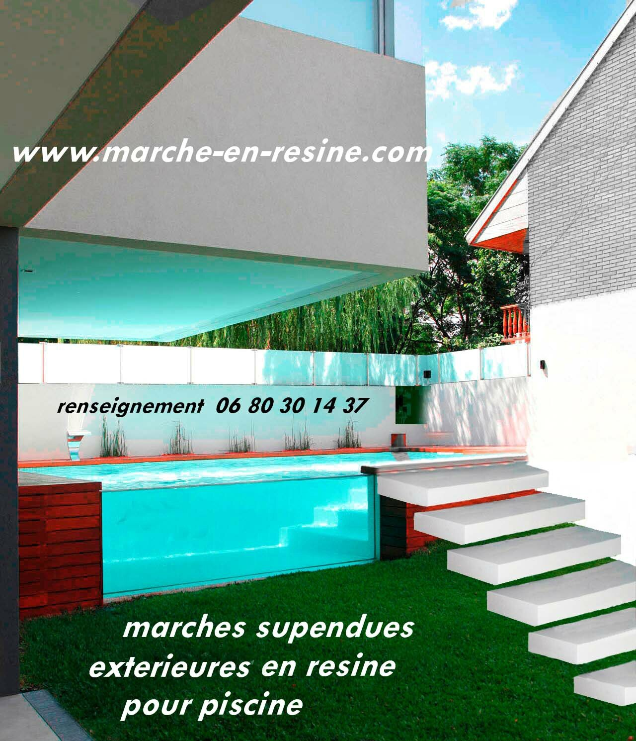 Escalier suspendu concrete steps marche en beton escalier for Marche piscine