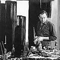 Pierre soulages in his atelier, 1954 by denise colomb