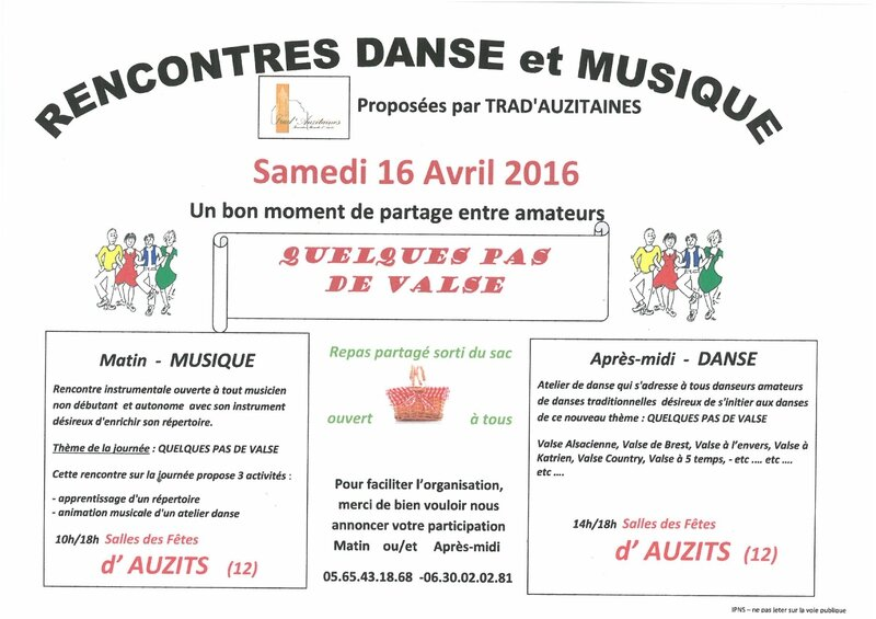 image Flayer Rencontre 16 Avril 2016