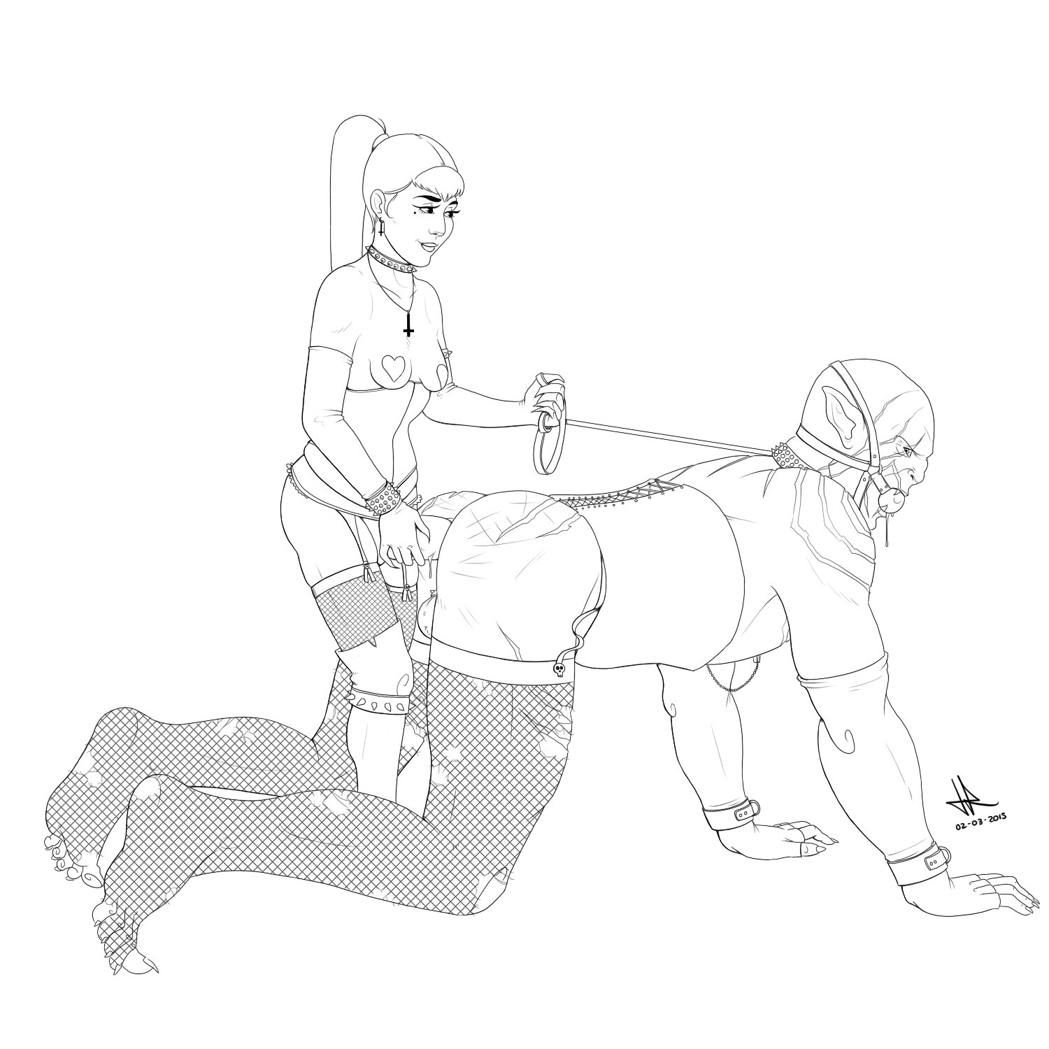 Bdsm drawings naughty