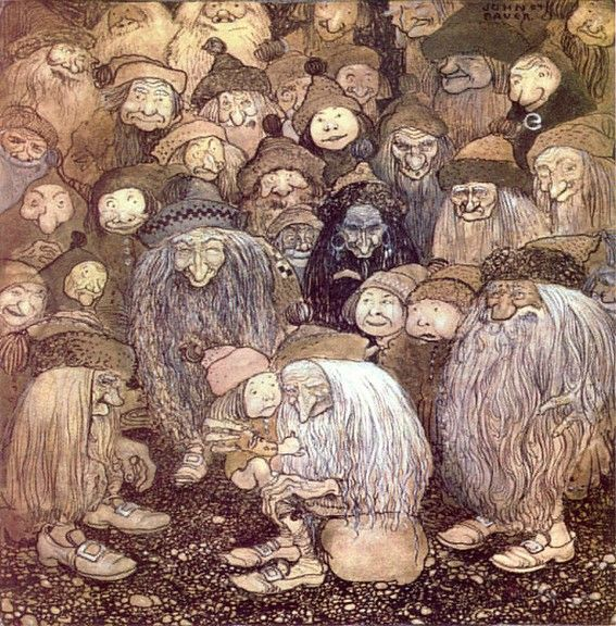 But how do I get into the mountain, the gnome boy asked - John Bauer