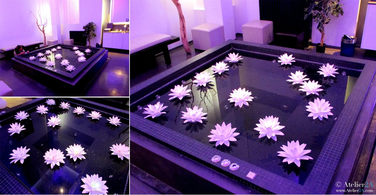 cr ation de fleurs en papier synth tique n nuphar pour une d coration v nementielle water. Black Bedroom Furniture Sets. Home Design Ideas
