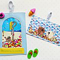Happy mail ~ diy cartes postales à paillettes
