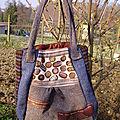 sac chocolat (tweeds de récupération)