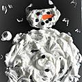 Challenge de noël 1 ♥ réaliser un bonhomme de neige effet 3d
