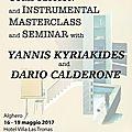 Masterclass avec yannis kyriakides