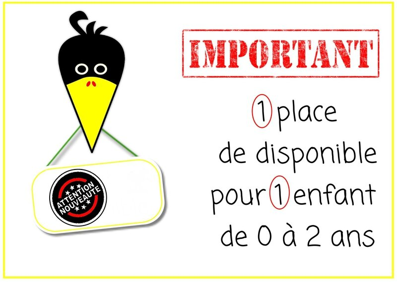 1 place dispo tête corneille important 1 place libre pancarte 1