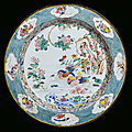 A large enamelled copper plate, china, qing dynasty, yongzheng period (1723-1735)