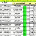 Programmation des 5 et 6 novembre