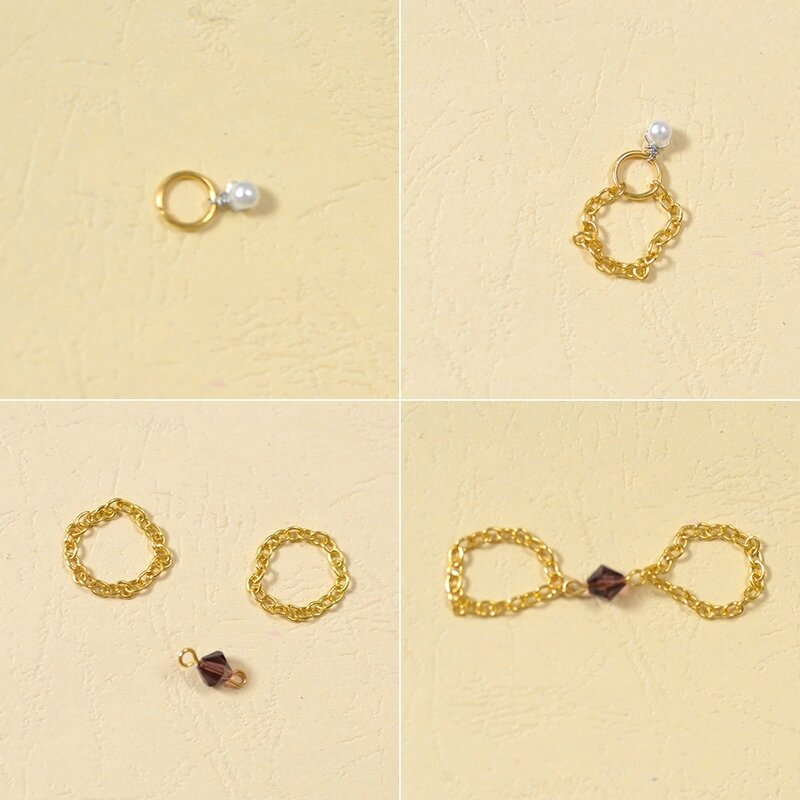 Fashionable Golden Chain Rings 3