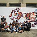 Atelier fresque murale avec Thomas Frey
