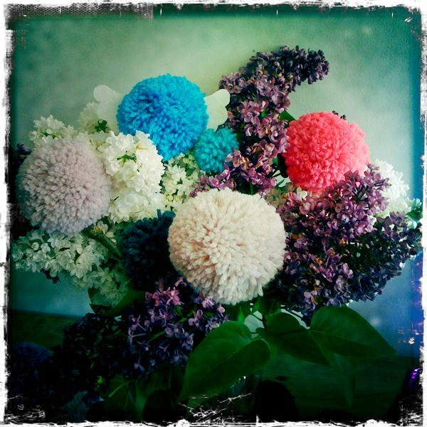 bouquet pompons anges