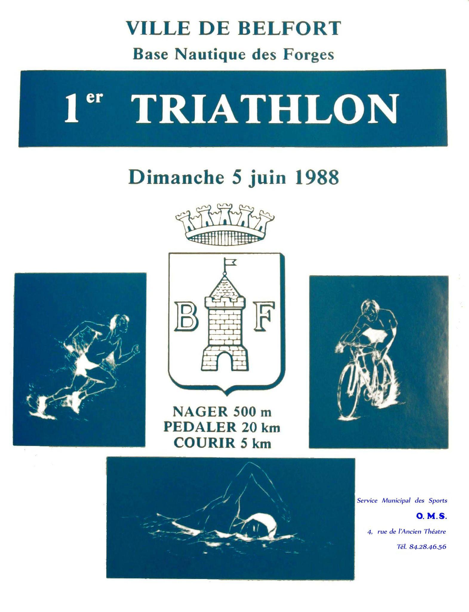 Triathlon à Belfort, le premier en 1988