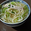 Soupe chinoise, nouilles, porc