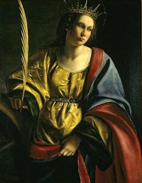 463px-Artemisia_Gentileschi_-_'Saint_Catherine_of_Alexandria',_oil_on_canvas_painting,_c__1620,_El_Paso_Museum_of_Art