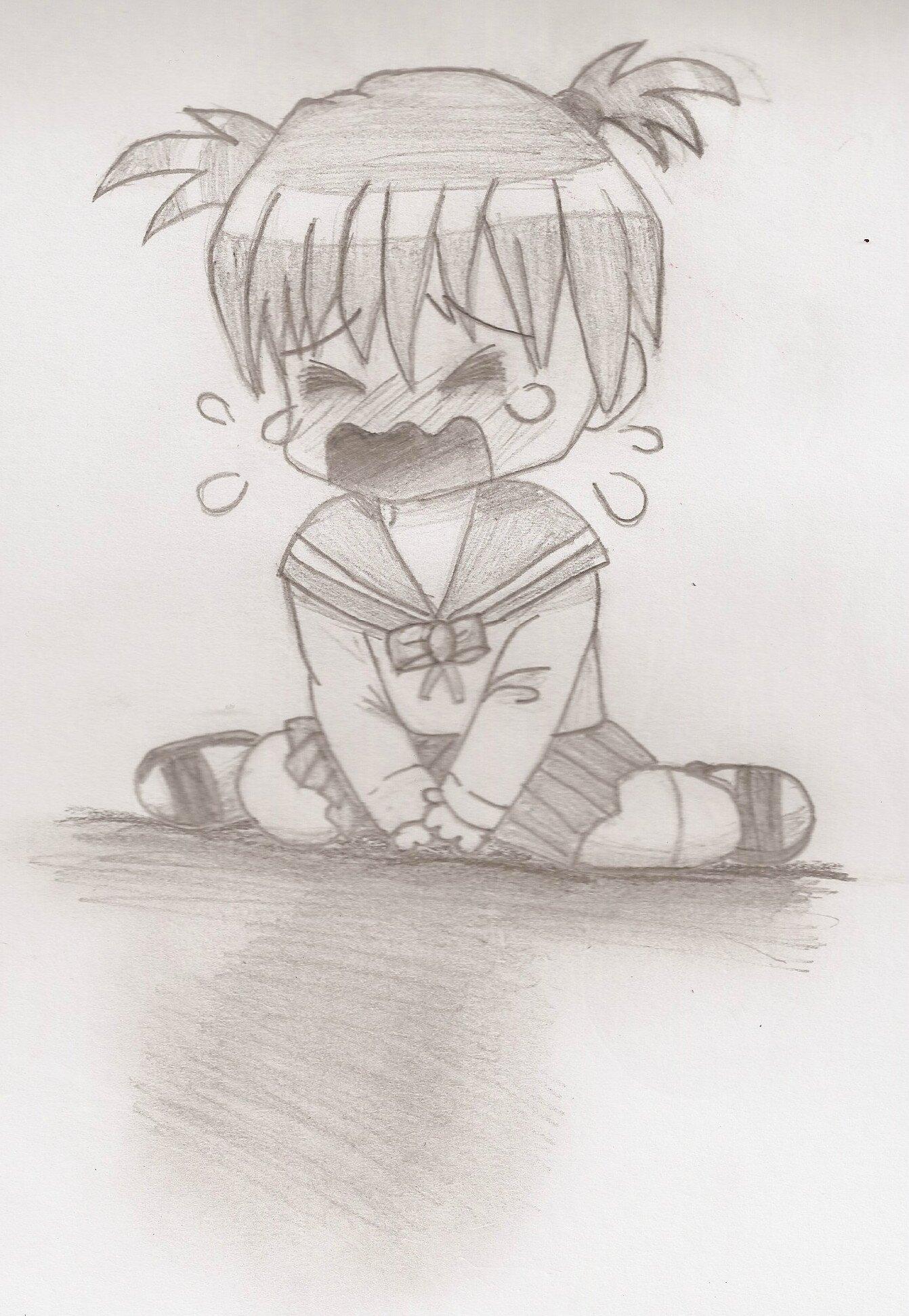 Dessin Manga Qui Pleure