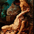 Peter paul rubens (1577-1640), cain slaying abel