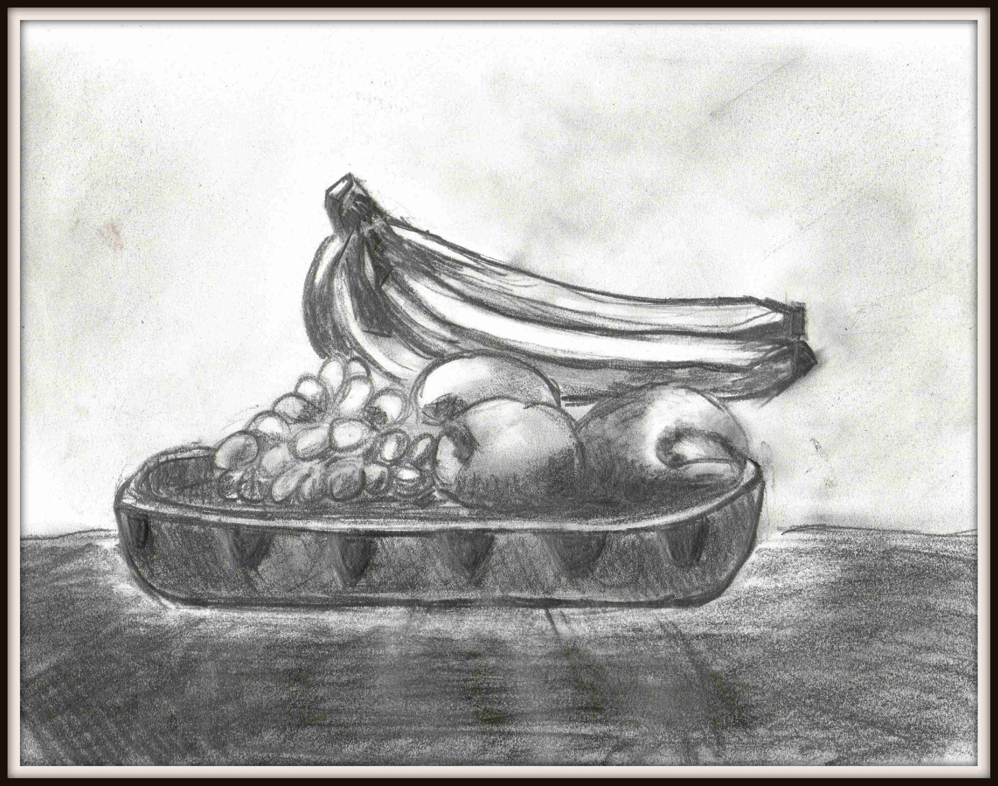 Nature morte corbeille de fruits blog de jules - Dessin nature morte ...