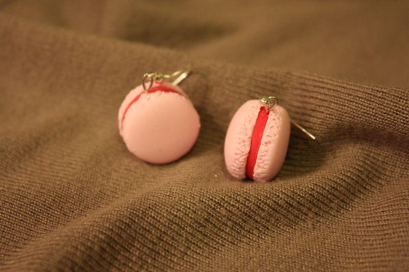 boucles macaron fraise