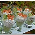 Verrine avocat et saumon