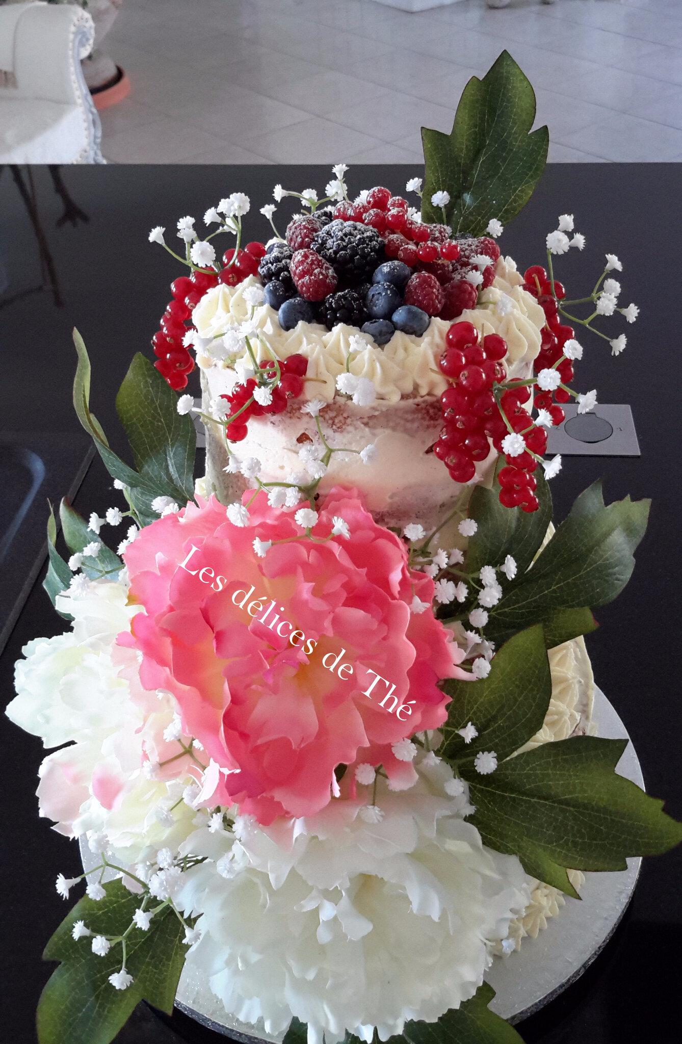 Nude cake champêtre