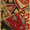 Une skinny ethnique...collage de tissus