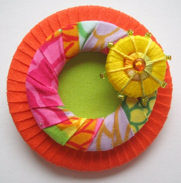 Textile Brooch with Dorset Button