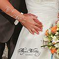 Bracelet manche mariage argenté - Douce pensée