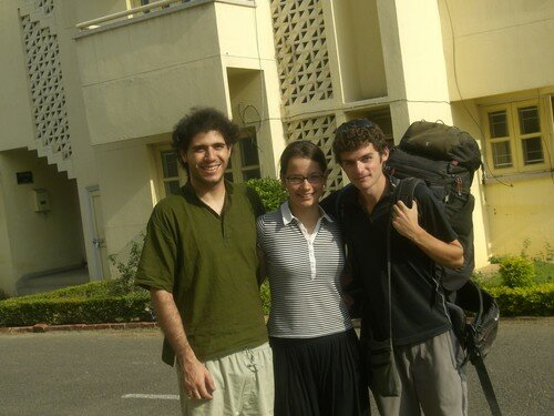 Patiala, Mathieu, Katarina et moi meme, lors du depart vers Amritsar