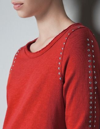 sweat rouge zara
