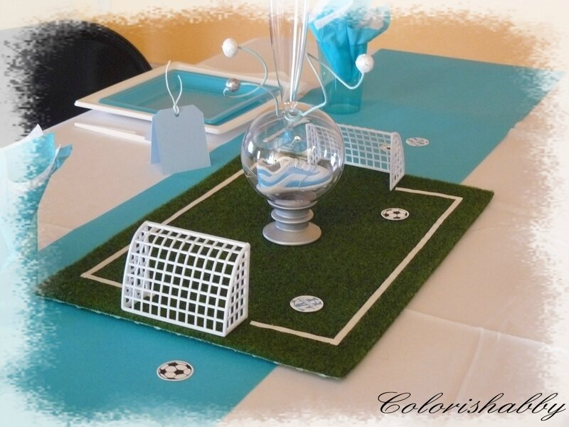 Decoration anniversaire colorishabby - Decoration football pour anniversaire ...