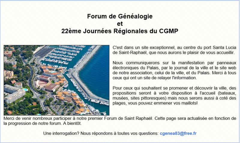 Forum généalogie 1
