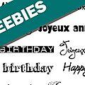 Freebies anniversaire : étiquettes à imprimer !