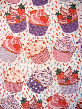 tissu cupcakes