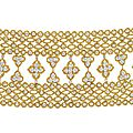 Van cleef and arpels (co.). a diamond and gold bracelet, 1972