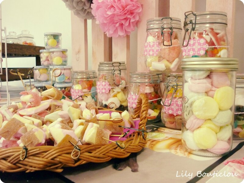 diy noce de bonbons candy bar lily bouticlou. Black Bedroom Furniture Sets. Home Design Ideas