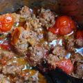 Spaghetti poivrons grilles et tomates cerises...