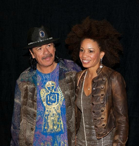Carlos Santana et Cindy Blackman Santana his wife (great drummer) Live 2011