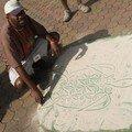 Les vanuatais et le dessin sur le sable