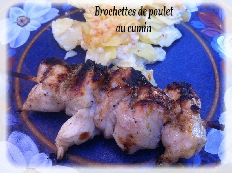 brochettes de poulet au cumin