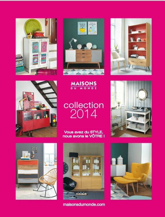 Nouveau le catalogue maisons du monde 2014 deco for Album photo maison du monde