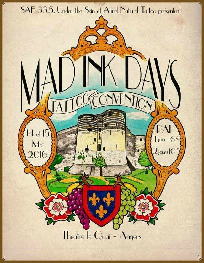 The Mad Ink Days tattoo convention 14 à 15 mai 2016