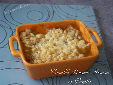Crumble Pomme, Ananas et vanille 1