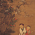 Children Playing on a Winter Day, anonymous, Sung dynasty, Hanging scroll