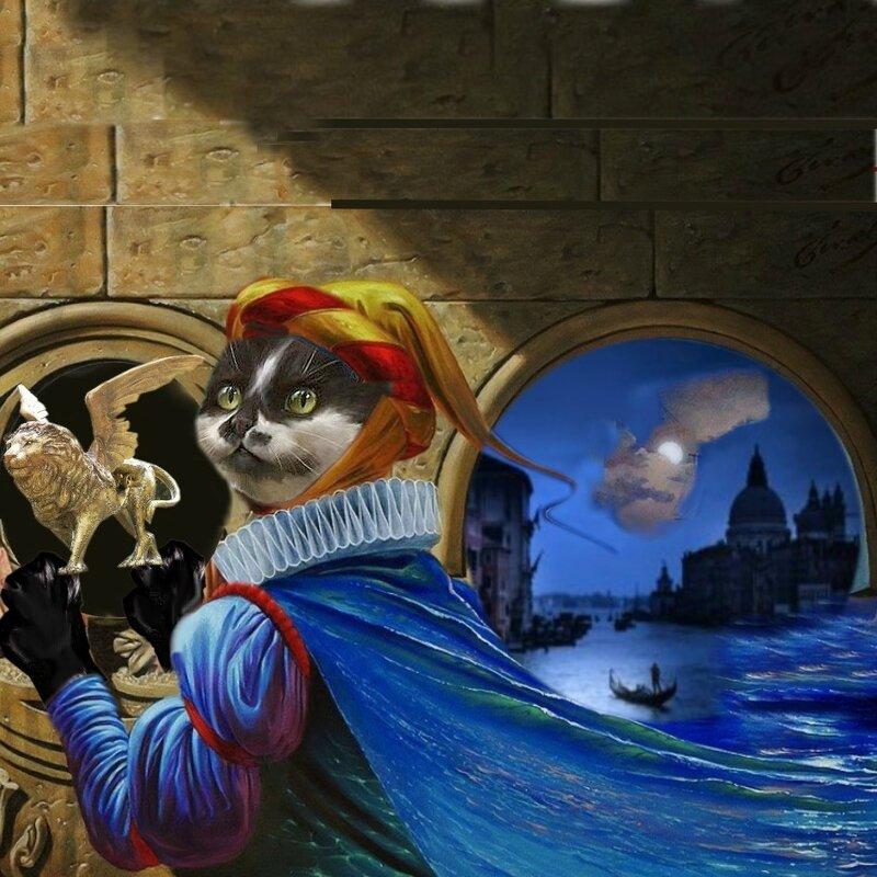 carte chat mon lion de venise