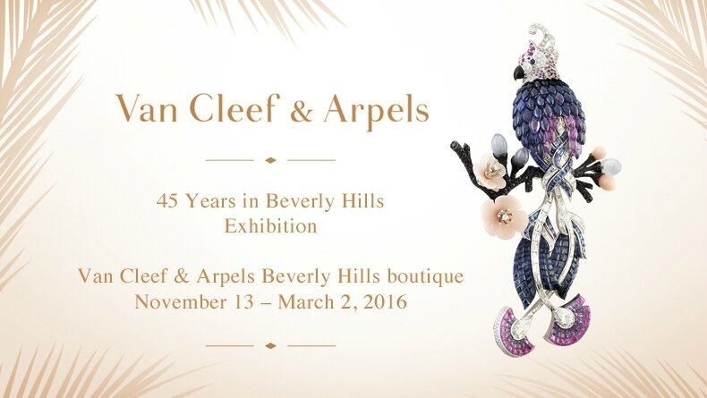 """Van Cleef & Arpels, 45 Years in Beverly Hills. A Celebration of Style & Design"""